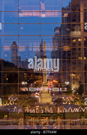 Columbus Circle in New York City as seen from the Time Warner Center - Stock Photo