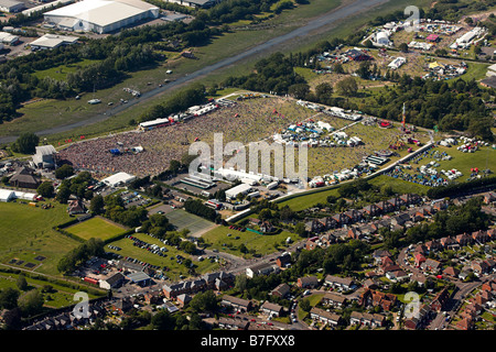 Aerial view of the Isle of Wight Festival 2006 - Stock Photo