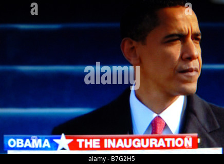The historic inauguration of Barack Obama on 20th Jan 2009 - Stock Photo