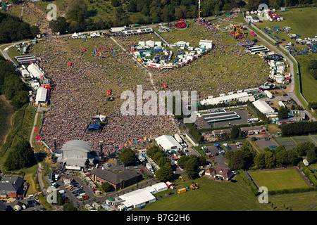 Aerial view of The Isle of Wight Festival - Stock Photo