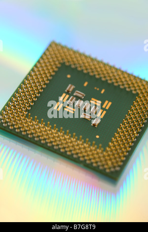 CPU processor computer microchip - Stock Photo