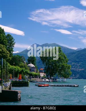Tremezzo and Lake Como, Lombardy, Italy. - Stock Photo