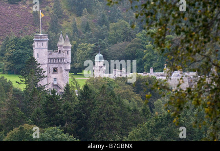 Balmoral Castle view, Aberdeenshire, Scotland - Stock Photo