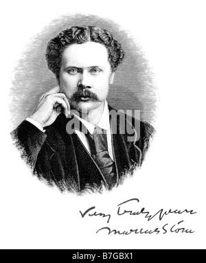 Portrait of Marcus Stone 1840 1921 Circa 1890 Victorian Painter - Stock Photo