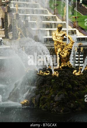 Samson Fountain - Stock Photo