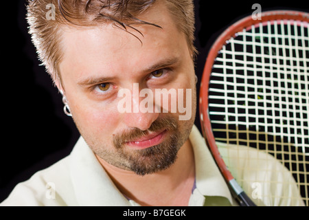 Young tennis player - Stock Photo