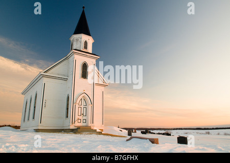 Old abandoned church in Stonehaven New-Brunswick Canada - Stock Photo