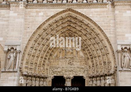 Doorway of Notre Dame de Paris. France - Stock Photo
