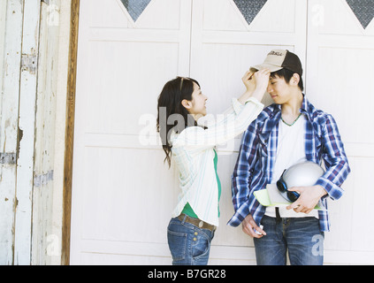 Couple wearing jeans - Stock Photo