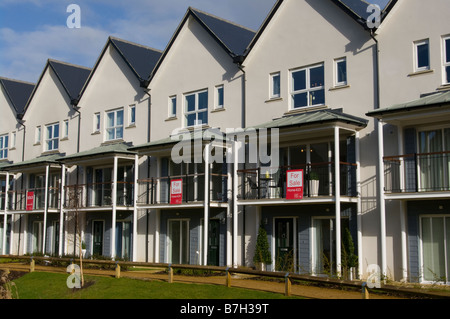 Empty New Properties Houses Homes for Sale On A New Development Redhill Surrey - Stock Photo