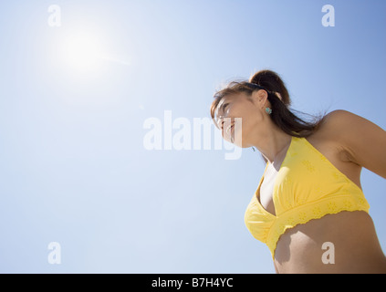 Woman wearing bikini - Stock Photo