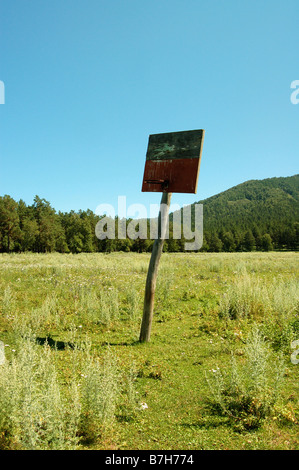 Basketball net in the Altai mountains, Siberia - Stock Photo