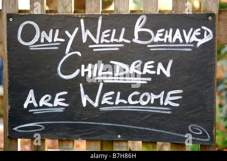 Sign at Great Tew Oxfordshire England - Stock Photo