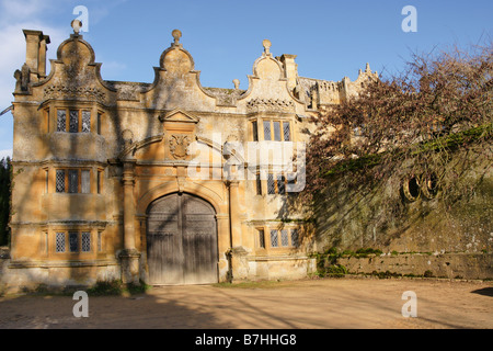 Gatehouse Stanway House Gloucestershire - Stock Photo