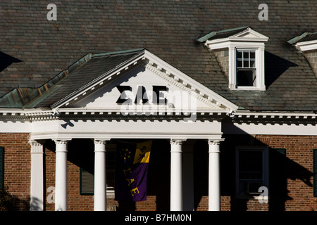 Sigma Alpha Epsilon Fraternity House at Dartmouth College Hanover NH New Hampshire New England United States of - Stock Photo