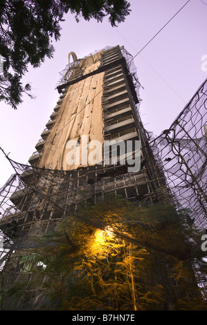 A high rise apartment building under construction in Mumbai, India. - Stock Photo