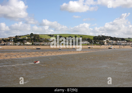 The North Devon village of Instow viewed from Appledore across the River Torridge. Instow is home to the North Devon - Stock Photo