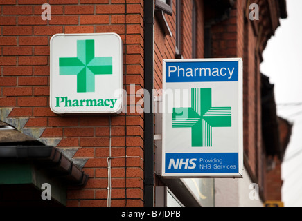A village Pharmacy in the heart of the local community in Redditch Worcestershire England UK - Stock Photo