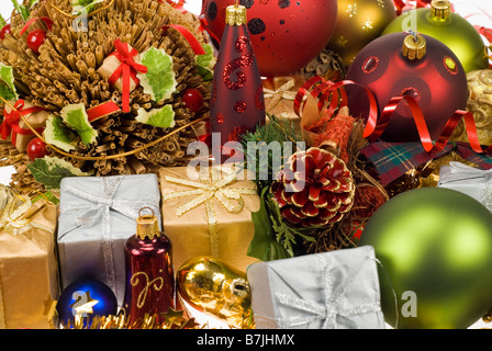 colorful christmas holiday decoration design - Stock Photo