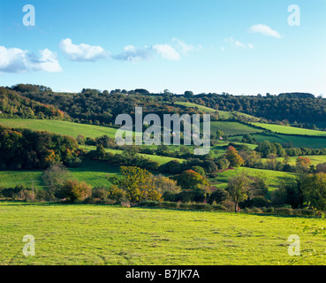 Slad Valley in early autumn. Slad near Stroud Gloucestershire England United Kingdom - Stock Photo