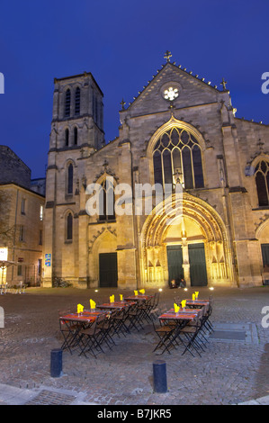 saint pierre church bordeaux france - Stock Photo