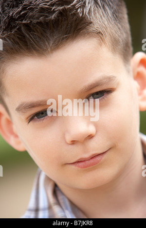 Portrait Of Pre-Teen Boy - Stock Photo
