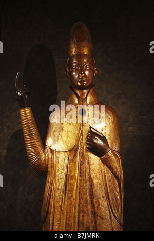 Statue of Pope Boniface VIII, Museo Civico Medievale, Medieval Museum, Bologna, Italy - Stock Photo