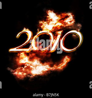 the year 2010 is comming soon - Stock Photo