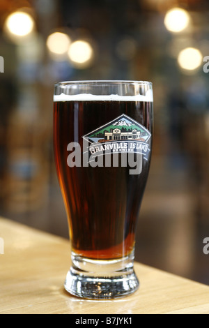 Local Beer, Granville Island Brewing Company, Vancouver, British Columbia, Canada - Stock Photo