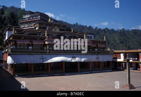 Rumtek gompa Gangtok Sikkim India - Stock Photo