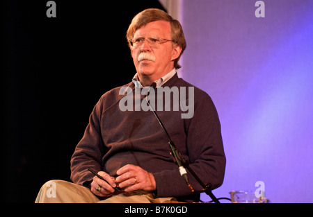 American political figure John Bolton pictured at Hay Festival 2008 Hay on Wye Powys Wales UK - Stock Photo