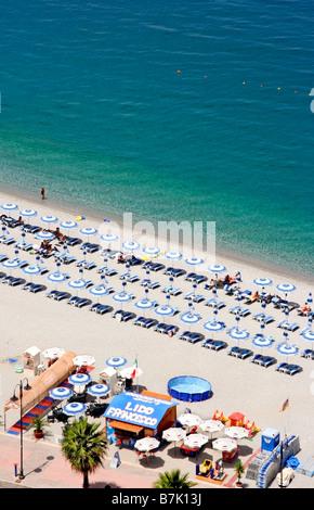 Beach in Scilla, province of Reggio Calabria, region of Calabria, southern Italy - Stock Photo
