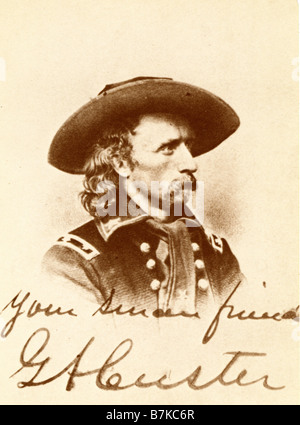 GENERAL GEORGE ARMSTRONG CUSTER US soldier 1839-1876 - Stock Photo