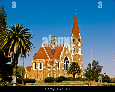 Lutheran Church in Windhoek Namibia - Stock Photo