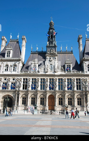 Town hall of Paris, France, Europe - Stock Photo