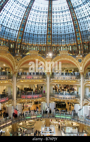 Galeries Lafayette luxury shopping department store in Paris, France