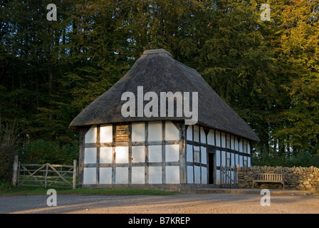 St Fagan's National History Museum, also known as the Museum of Welsh Life. Abernodwydd farmhouse - Stock Photo