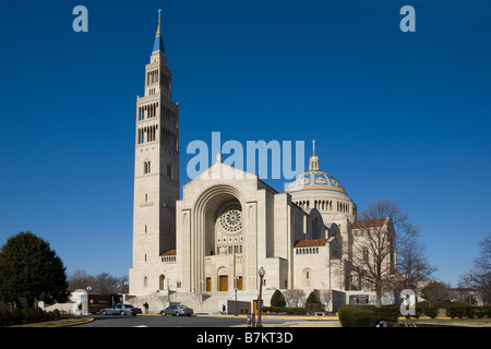 Basilica of the National Shrine of the Immaculate Conception Washington D.C. - Stock Photo