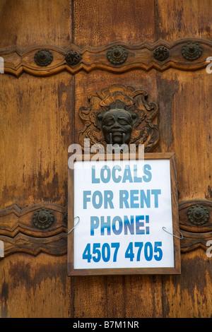 Door in Concepcion Church Antigua City Guatemala Central America - Stock Photo