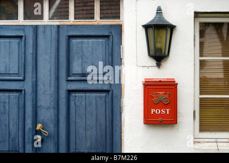 Detail of a house in Old Stavanger (Gamle Stavanger), Norway - Stock Photo