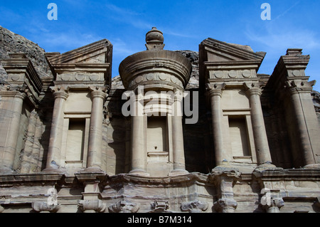 Top Part of The Monastery in Petra - Stock Photo