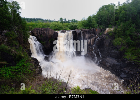 High Falls of the Pigeon River - Stock Photo