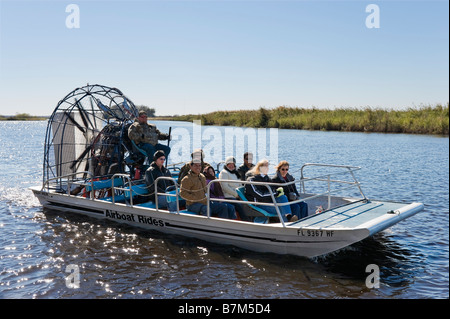 Airboat on the St John's River just off SR520, near Cocoa Beach, Florida, USA
