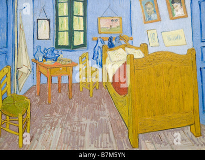 Vincent van Gogh, Vincent\'s Bedroom in Arles. 1888 Stock Photo ...