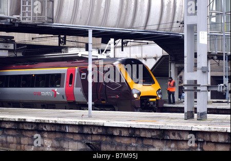 Arriva Cross Country Voyager train at Birmingham New Street station, England, UK - Stock Photo