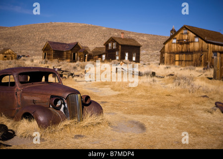 Abandoned Car in Bodie State Historical Park - Stock Photo