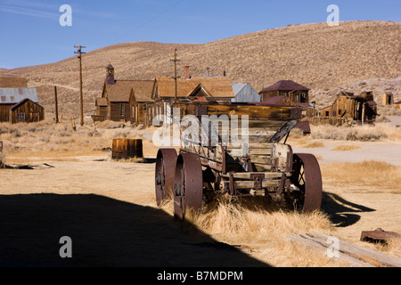 Ore Cart in Bodie State Historical Park - Stock Photo