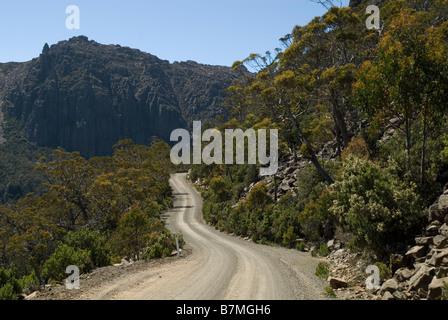 Jacobs Ladder , Ben Lomond National Park , Tasmania , Australia - Stock Photo