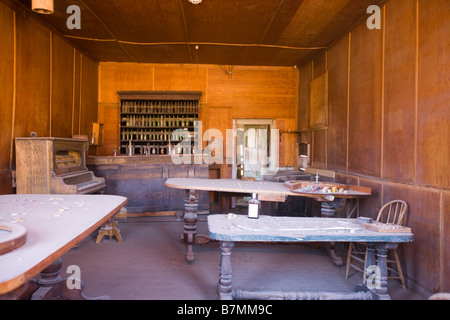 Gambling Hall in Bodie State Historical Park - Stock Photo
