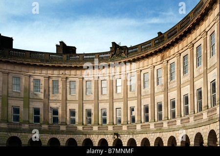 The Crescent in Buxton, Derbyshire, Great Britain - Stock Photo